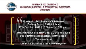 Toastmasters Malaysia District 102 HSSE_2018_DivG