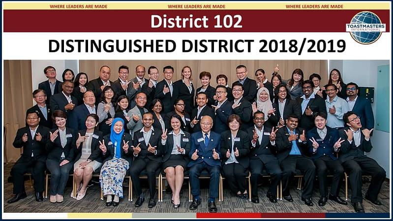 District 102 - Distinguished District 2018-2019