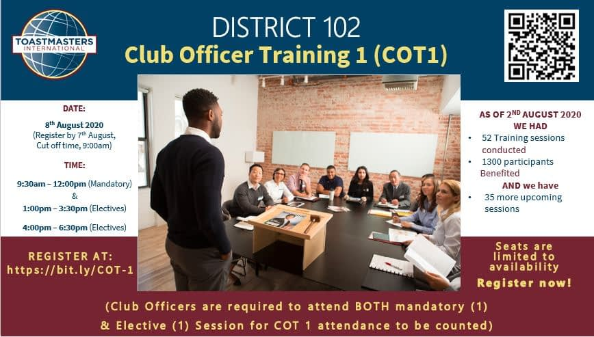 Club Officers Training (COT-1) for August