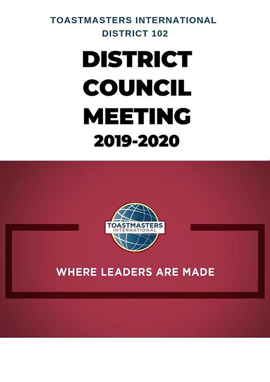 District council meeting D102