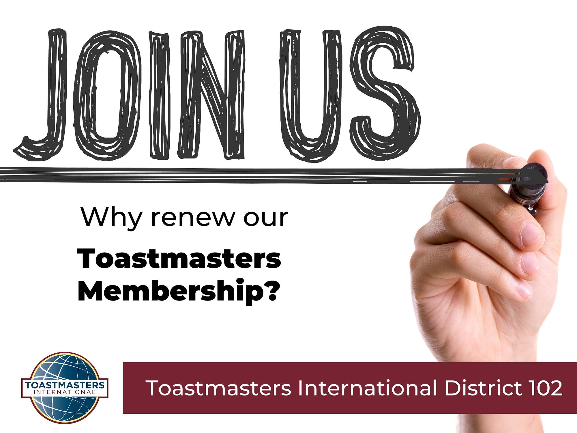 toastmasters membership