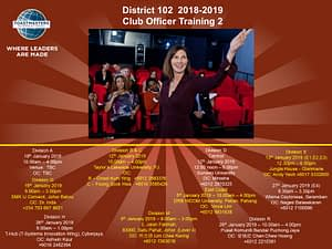 Toastmasters Malaysia District 102 - COT2 Flyer
