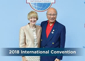 Toastmasters International President Lark Doley and William Lau