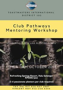 Pathways Mentoring Workshop Toastmasters Malaysia District 102