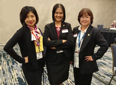 District leaders in the Toastmasters International Convention 2019