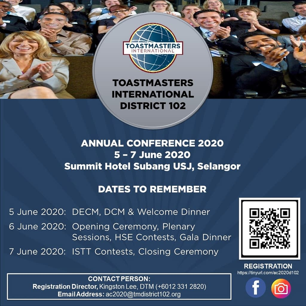 Annual Conference 2020 - Dates to Remember