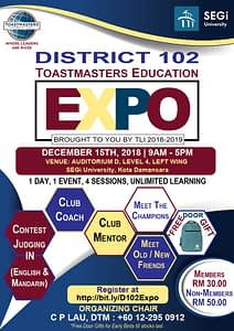 District 102 Toastmasters Education EXPO