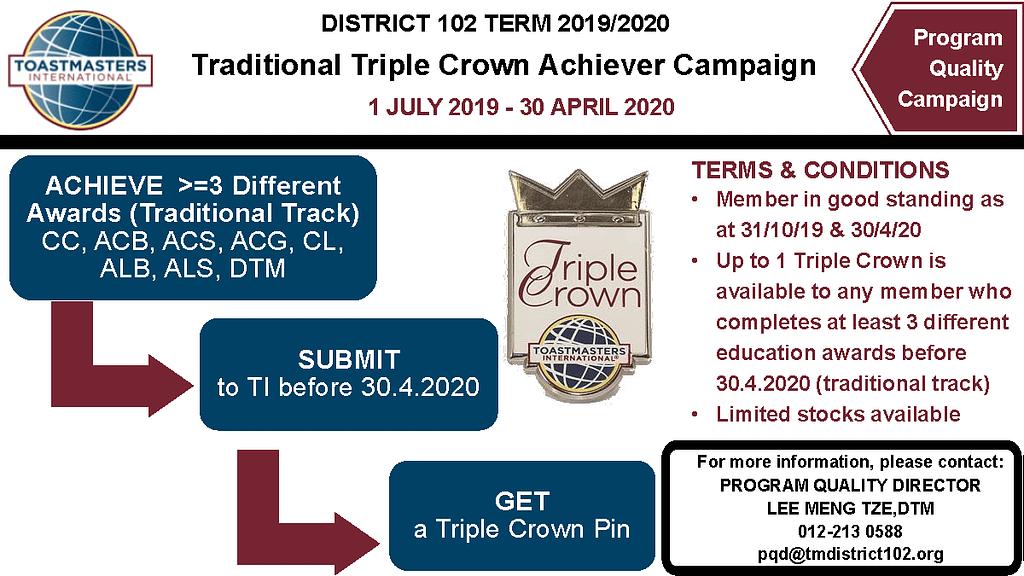 PQD Campaign 9 Triple Crown