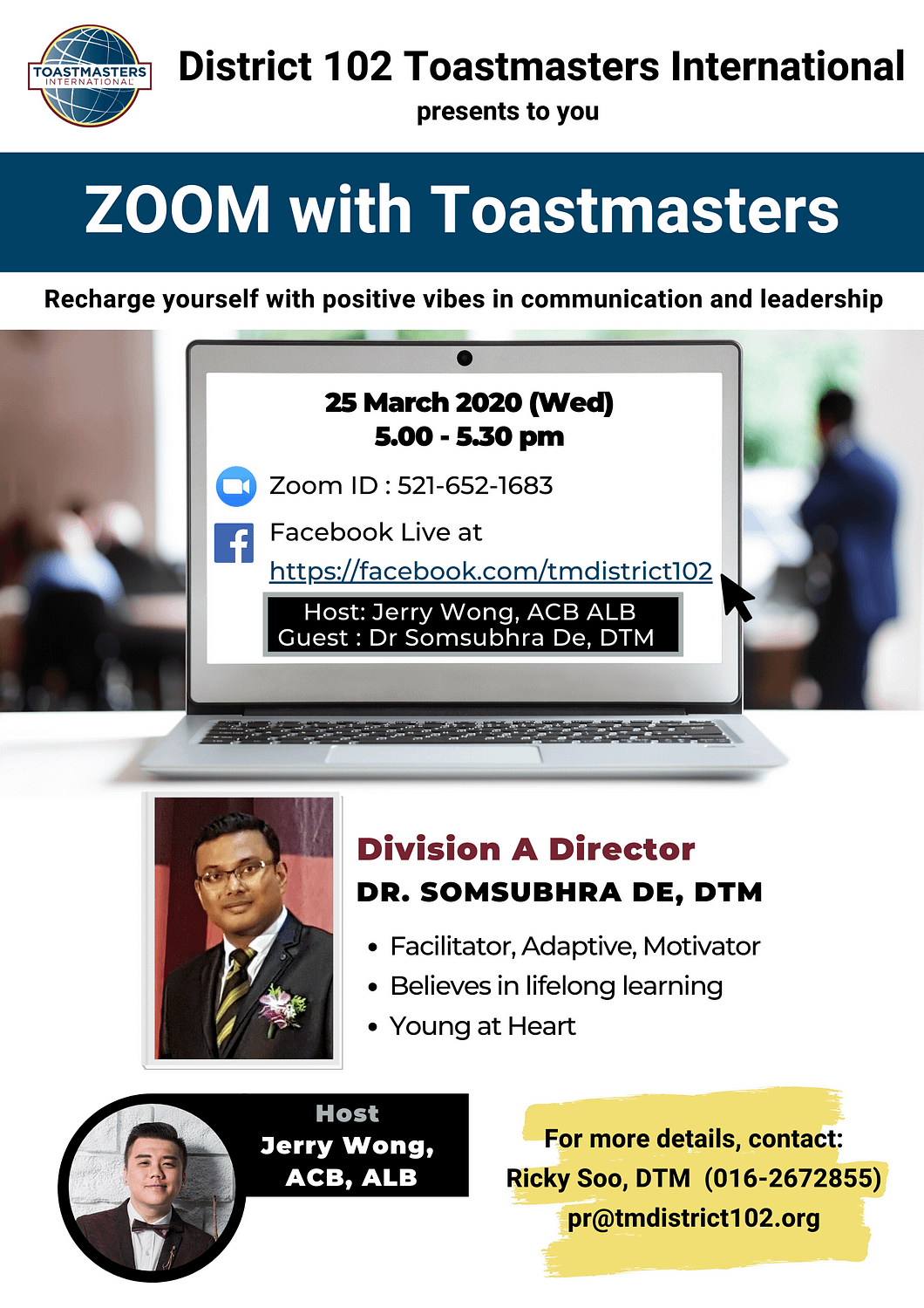 Zoom with toastmasters