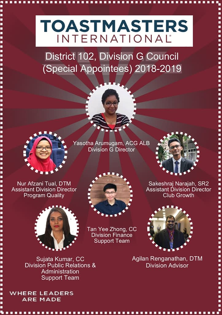 Toastmasters District 102 Malaysia Division G Council 2