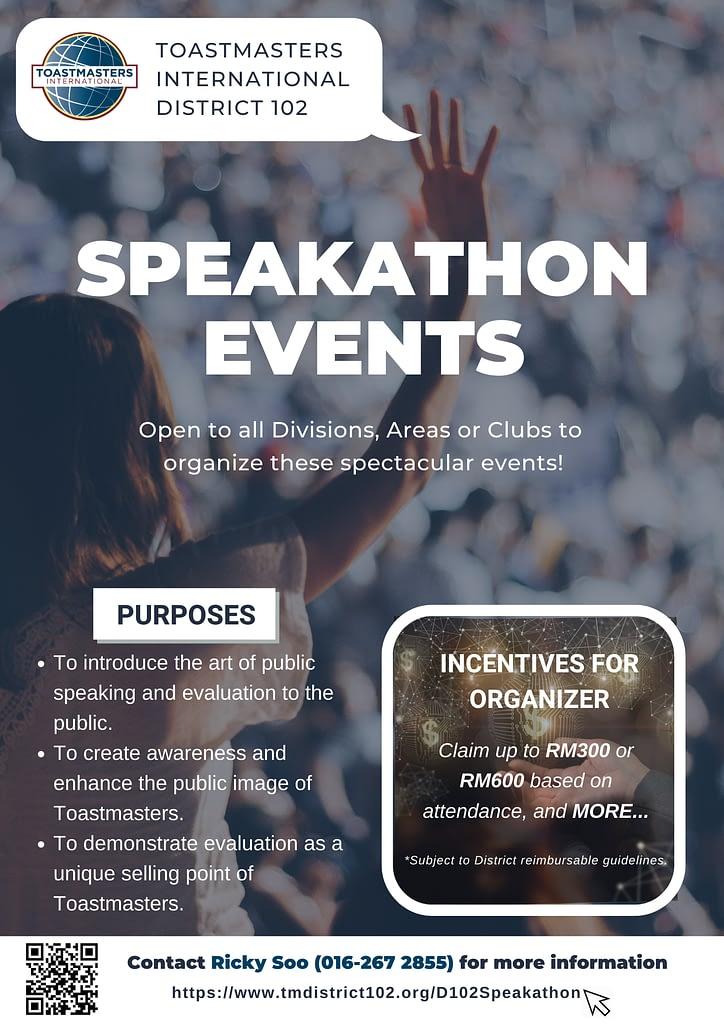 d102 speakathon event