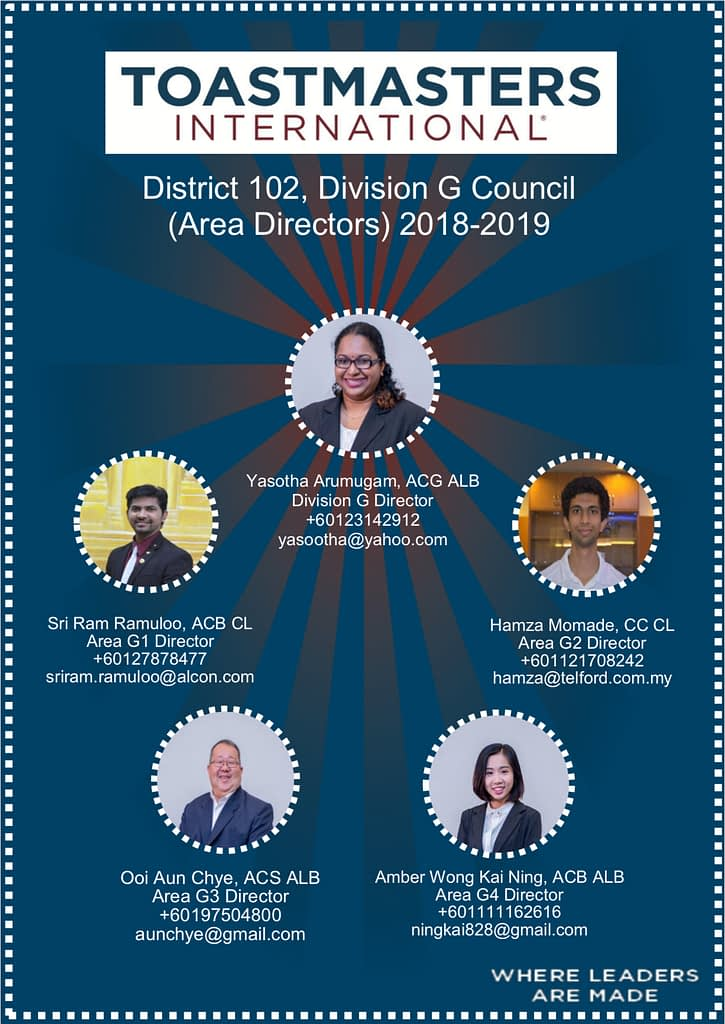 Toastmasters District 102 Malaysia Division G Council 1