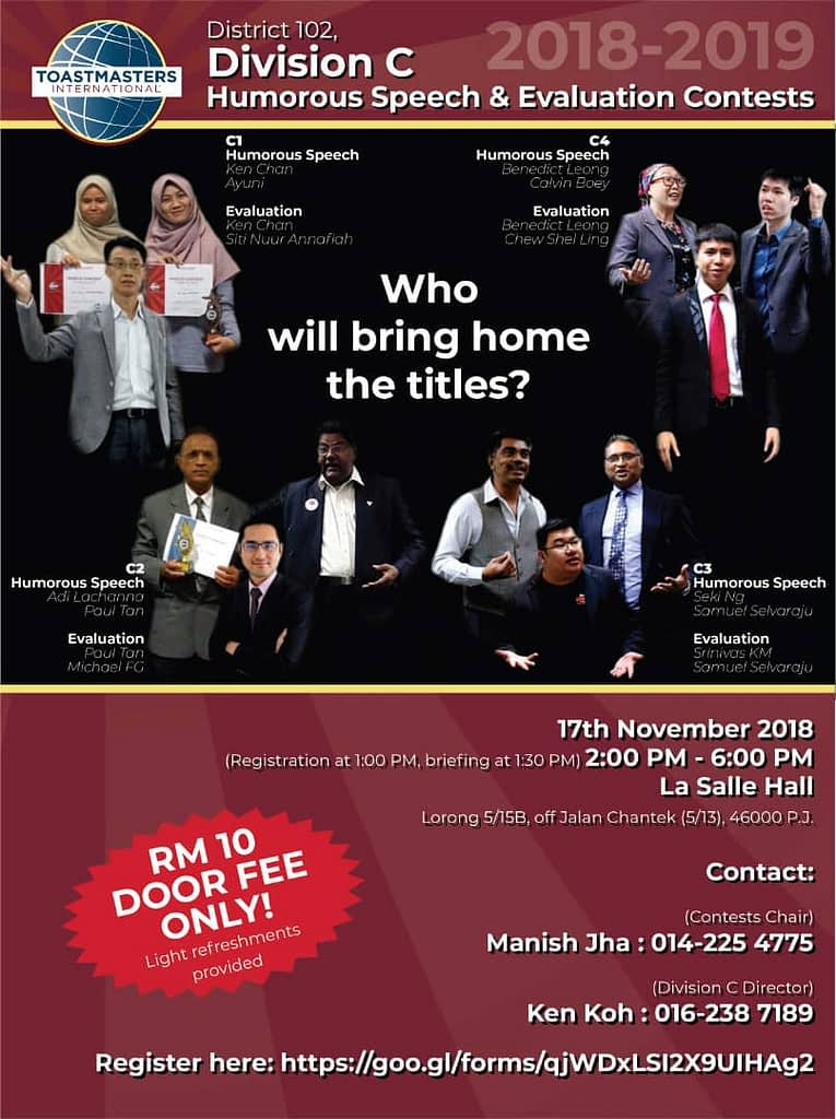 Toastmasters Malaysia District 102 HSSE_2018_DivC