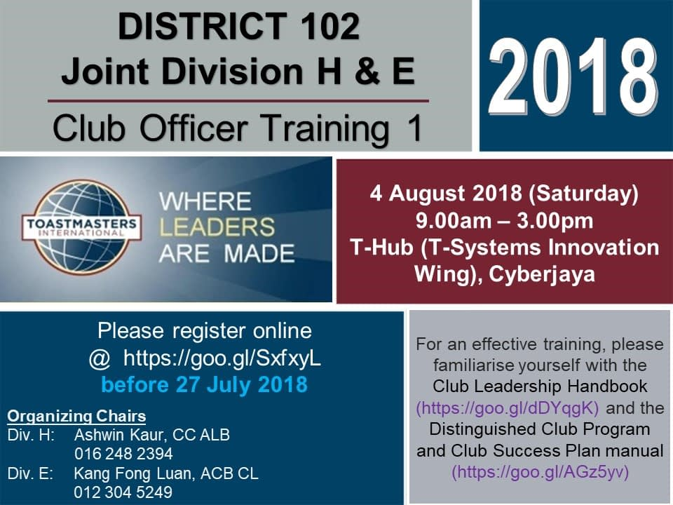 Toastmasters Malaysia District 102